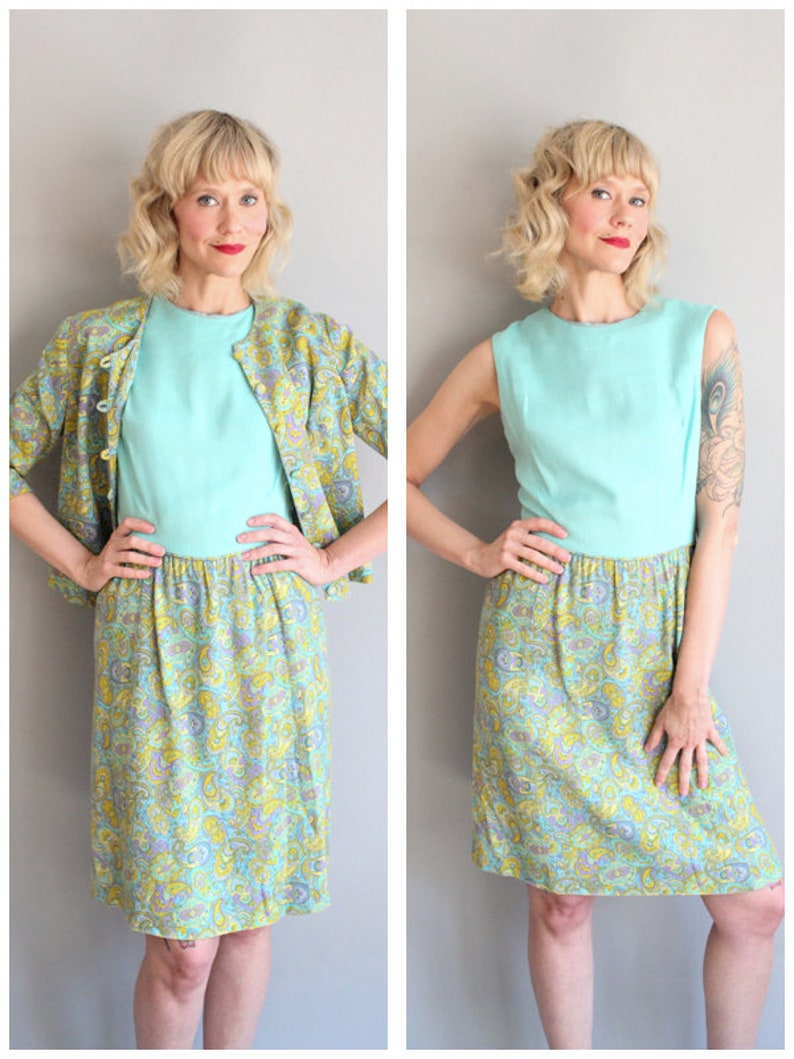 1960s Dress Set // Lord & Taylor Young Yorker Shift Dress  image 0
