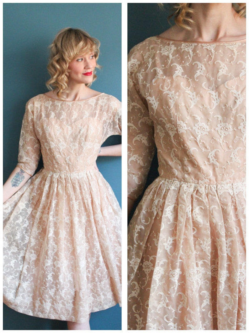 1950s Dress // Embroidered Jerry Gilden Dress // vintage 50s image 0