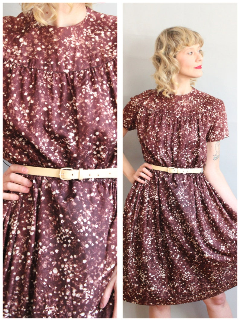1960s Dress // Fall Solstice Constellation Dress // vintage image 0