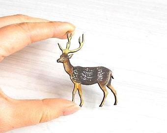 Woodland Deer Pin/Brooch