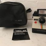 Vintage Polaroid Land Camera Rainbow One Step 1970's Vintage Camera with Focal 600 Flash includes Polaroid bag