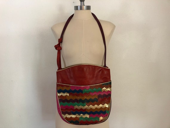 Vintage Sharif Leather Handbag | 1990's Fashion |
