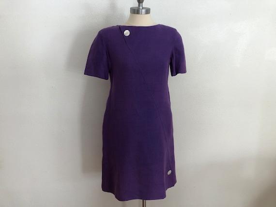 Bill Blass Purple Mini Dress | 1990's Bill Blass |