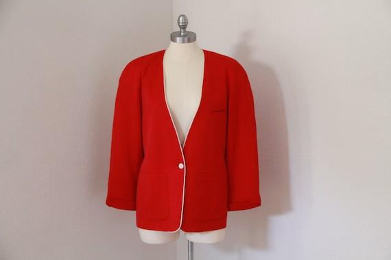 RED BURBERRY'S Prorsum Blazer Vintage Authentic De