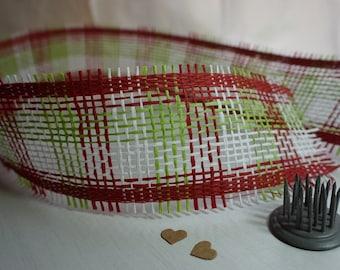 4m Paper Mesh Ribbon 60mm ~ Traditional ~ *Christmas *Gifts