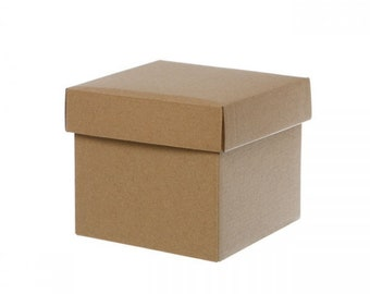 5 Small Kraft Gift Boxes with Lids | 13x12cm | Flat Pack | DIY Mini Hampers *Gifts | Christmas *Baby Shower