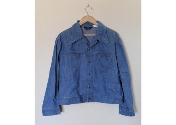 Vintage 1970s Mens Lee Denim Jacket / Mens Vintage