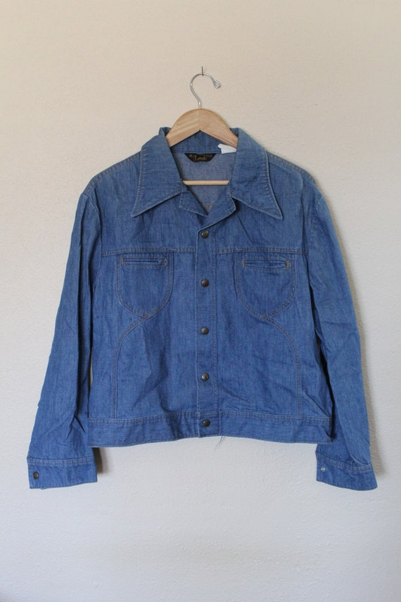 Vintage 1970s Mens Lee Denim Jacket / Mens Vintag… - image 2