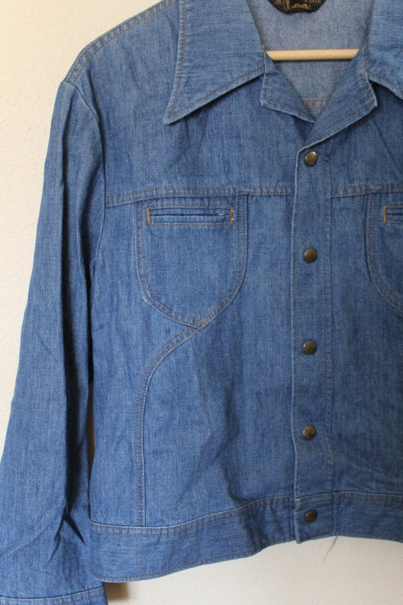 Vintage 1970s Mens Lee Denim Jacket / Mens Vintag… - image 4