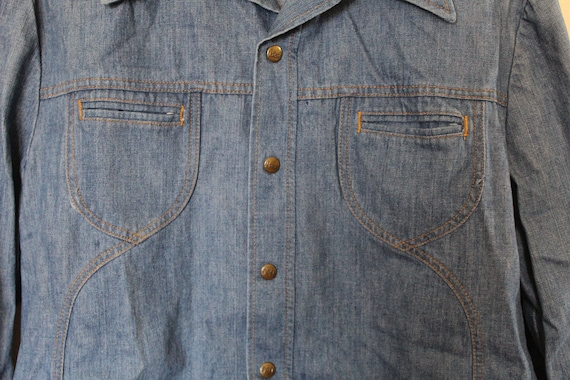 Vintage 1970s Mens Lee Denim Jacket / Mens Vintag… - image 3