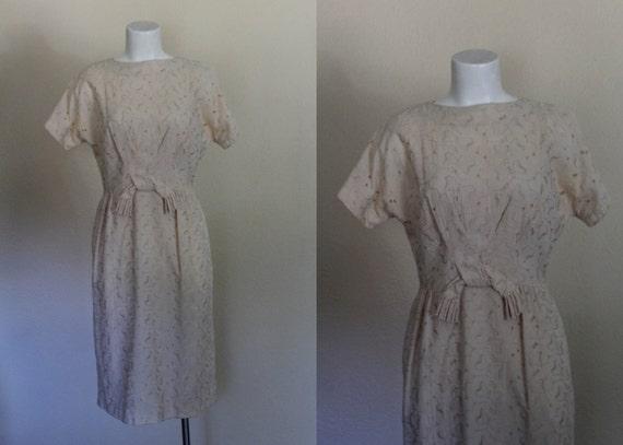 1960s Cotton Eyelet Dress / Vintage Wedding Dress