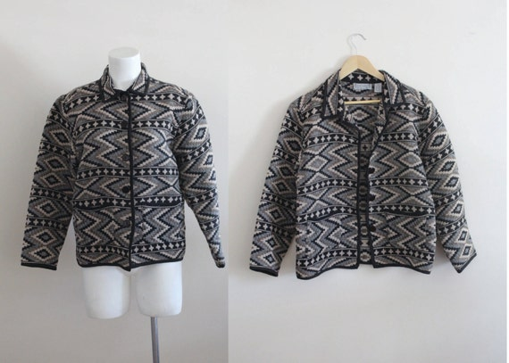 Southwestern Cotton Tapestry Jacket / Geometric Tr