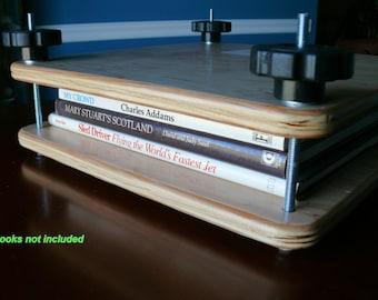 "Book Press, 14.5"" x 14.5"" Flat Plate Book Press, Birch / Maple, Finished, Item 211-1"