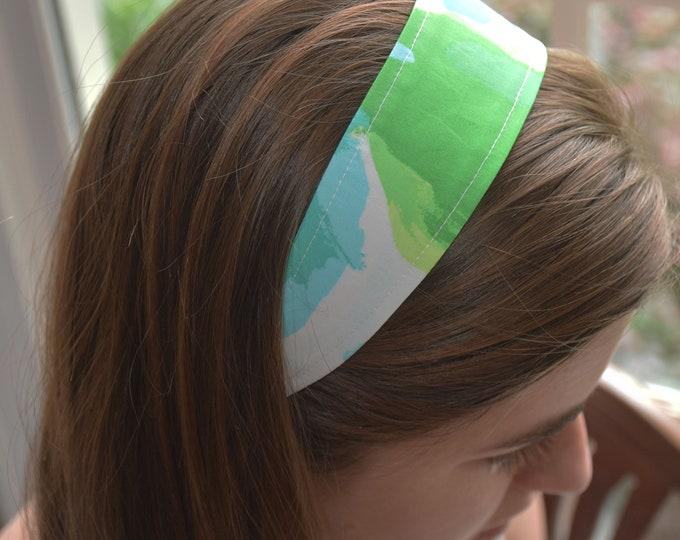 Girl's/woman's headband, hairband, wedding accessory, toddler headband, Lilly print headband, elastic back headband, Lilly fabric headband,