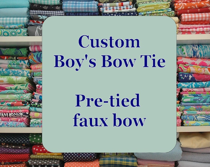 Boy's Bow Tie, Custom Made to order, father/son matching bow ties, wedding, toddler bow tie, ring bearer bow tie, infant - 10 year old sizes