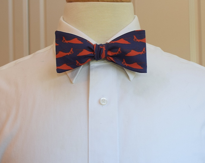 Men's Bow Tie, helicopters bow tie, aviation bow tie, wedding/groom/groomsmen bow tie, military bow tie, Coast Guard/Navy/Marine/Army tie