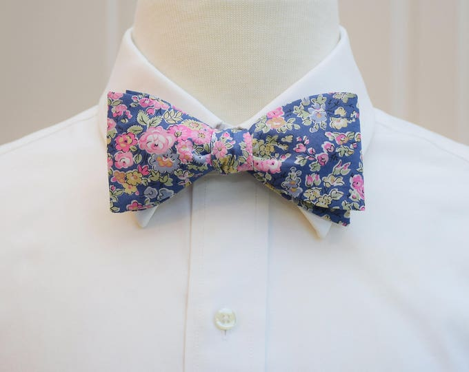 Men's Bow Tie, Liberty of London, lavender/pink/sage floral Tatum print bow tie, groomsmen/groom bow tie, wedding bow tie, tux accessory