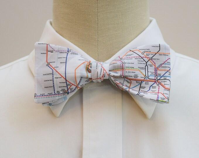 Men's Bow Tie, London Underground Map, London Tube map bow tie, Tube bow tie, London lover gift, UK wedding bow tie, British map bow tie