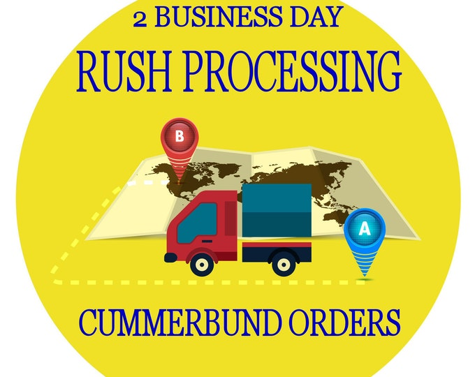 Rush order processing for 1 custom hand made cummerbund & bow tie set