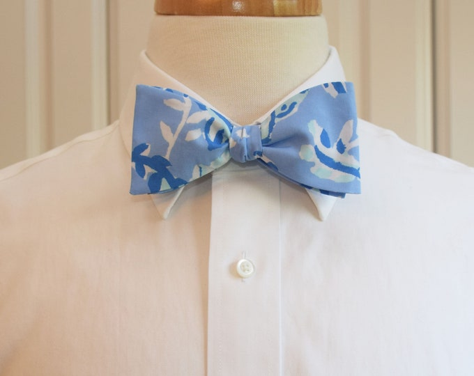 Men's Bow Tie, Turtley Awesome 2019 blues Lilly print bow tie, groomsmen/groom bow tie, wedding bow tie, Kentucky Derby bow tie, prom bowtie