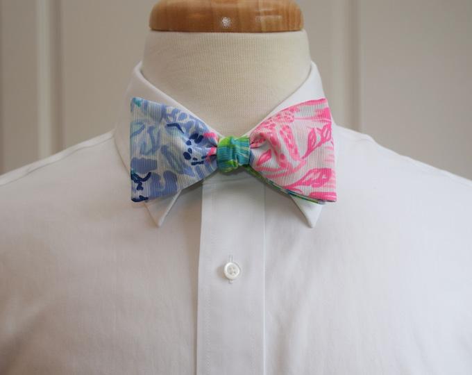 Men's Bow Tie, Bohemian Queen 2019 Lilly print, pink/blue/green/lilac, groom/groomsmen bow tie, wedding bow tie, prom bowtie, multicolor tie