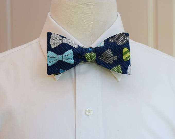 Men's Bow Tie, bow ties & pinstripes design, multi bow ties design, lawyer gift, business bow tie, boardroom bow tie gift, groomsmen gift