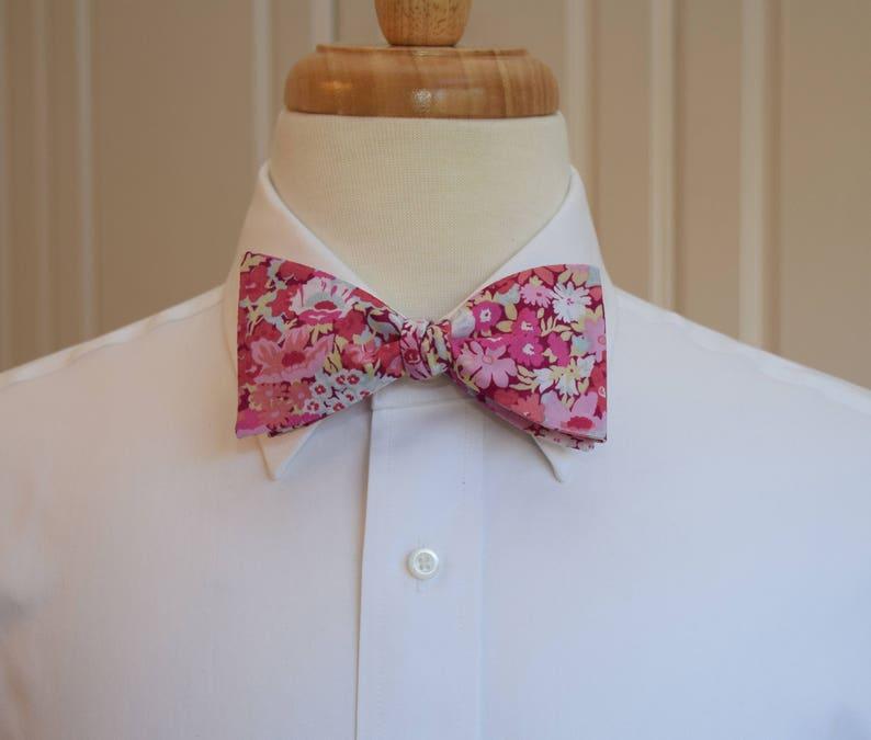 0960e7ea81 Men s Bow Tie Liberty of London pink pale blue floral