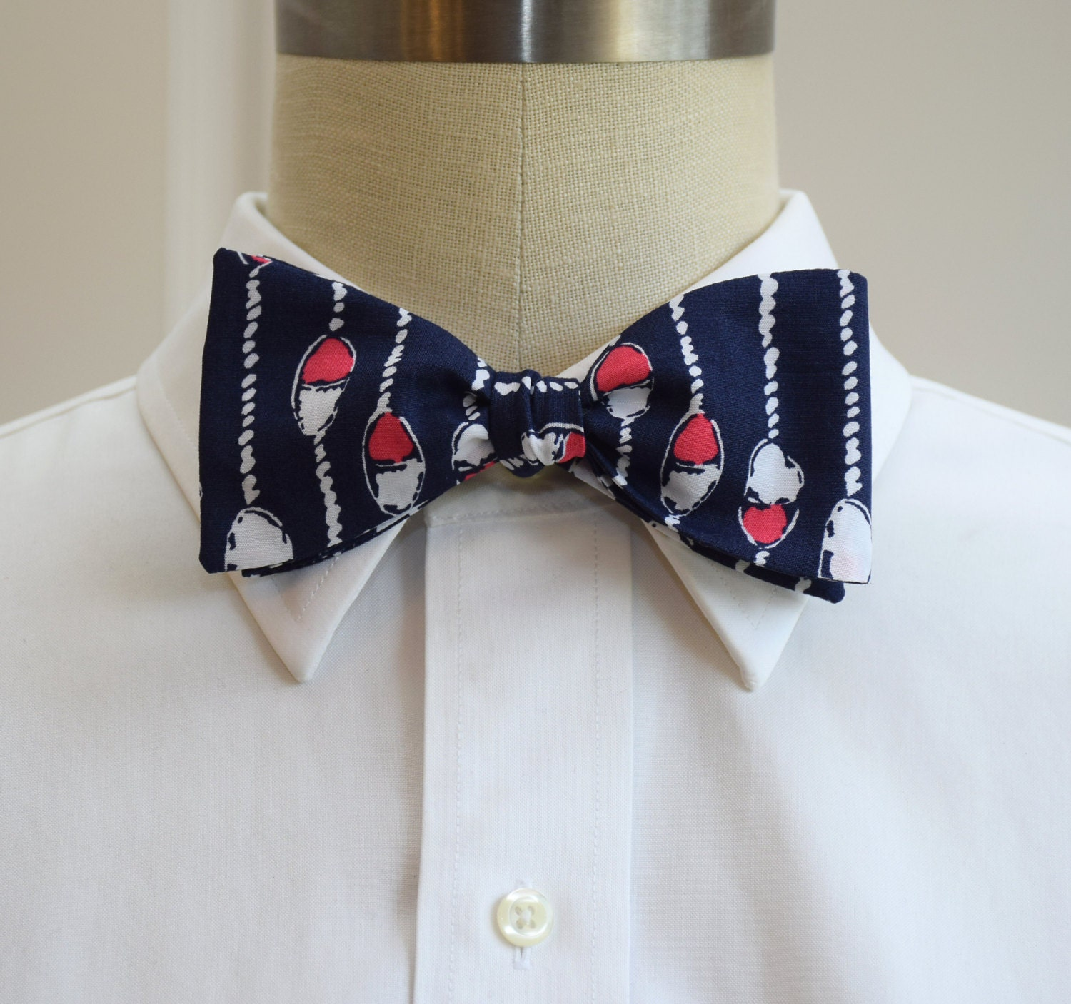 1d37cf63d Men's Bow Tie, Swim Lanes navy and pink Lilly print, Fathers Day gift ...