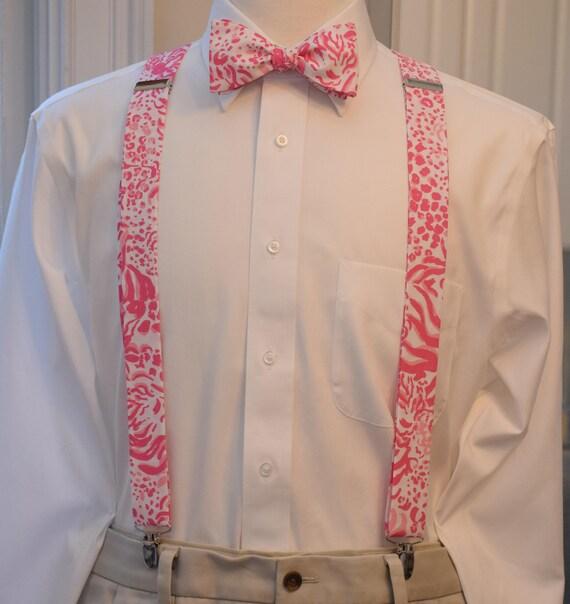 Classic Unisex Bow Tie and Suspender Set