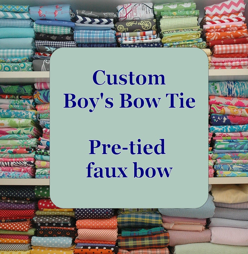 Boy's Bow Tie Custom Made to order father/son matching image 0