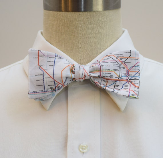 Bow Tie Iceland Map Adjustable Bowtie for Wedding Party