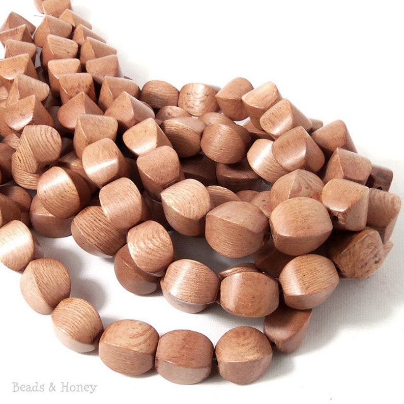 Rosewood Cushion 10mm x 14mm Large Natural Wood Beads 8 image 0
