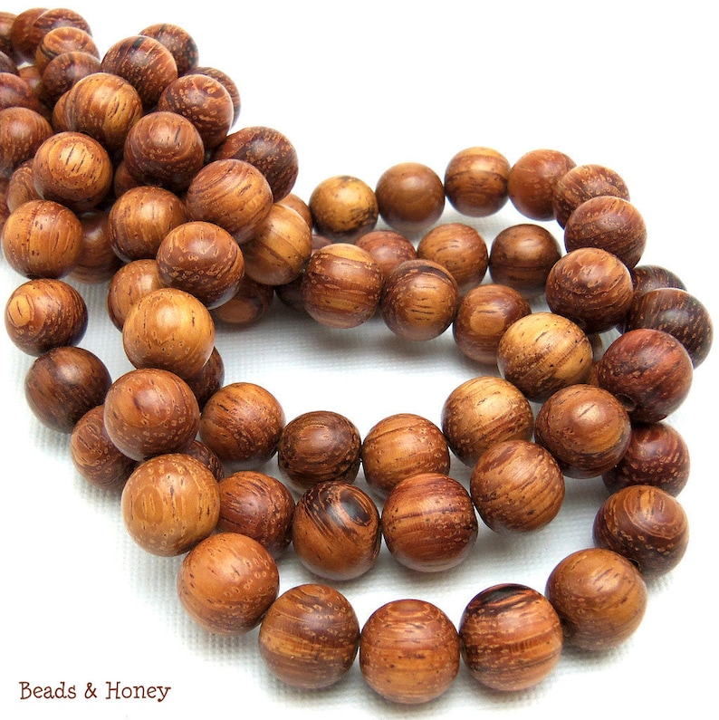 Bayong Wood 10mm Round Smooth Natural Wood Beads 16-Inch image 0