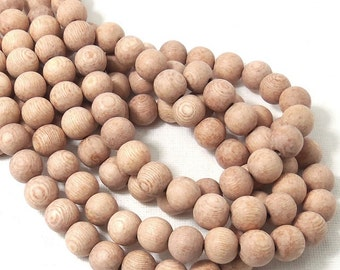 Unfinished Rosewood, 10mm, Unwaxed, Round, Smooth, Natural Wood Beads, 16-Inch Strand - ID 1645