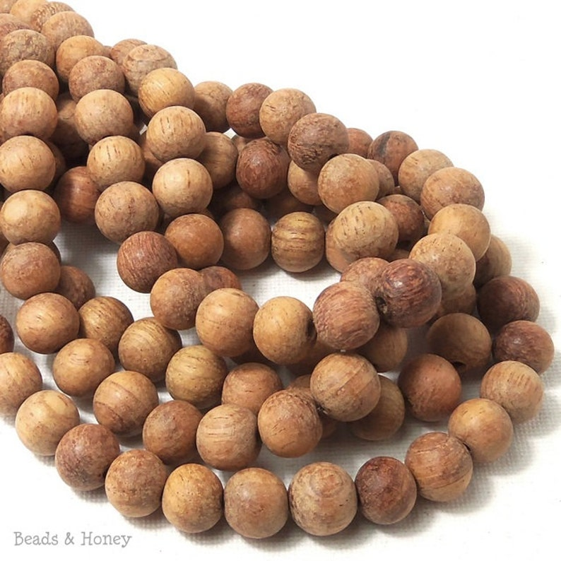Unfinished Bayong Wood Beads 10mm Unwaxed Round Smooth image 0