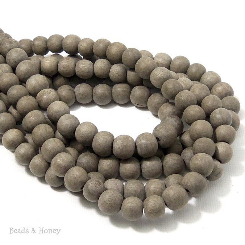 Unfinished Graywood Bead 8mm Round Small Natural Wood image 0
