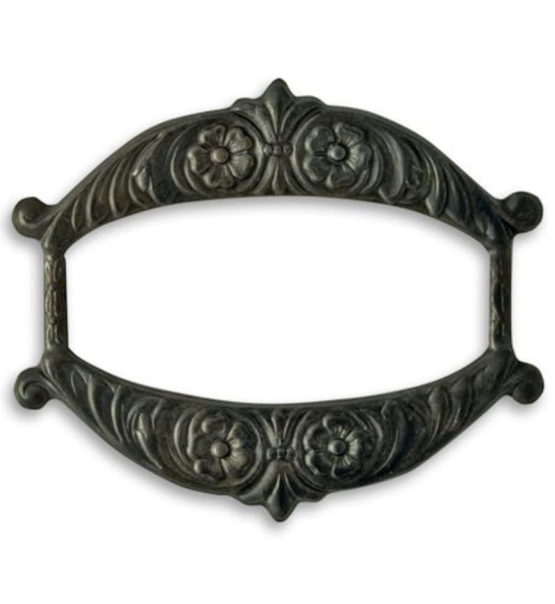 Vintaj Victoriana Ribbon Slide 2pcs Pair Arte Metal image 0