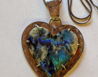 OOAK Australian Yellow Dendritic Opal natural metalsmith jewelry KatieJ/'s silversmith jewelry agate Artisan