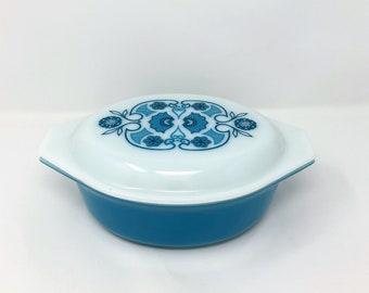 Pyrex Horizon Blue Covered Casserole Dish - 1.5 Quart