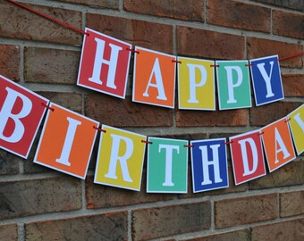 Happy birthday banner - 1st Birthday Banner - First birthday banner - Happy Birthday - Birthday Banner - birthday party - birthday sign