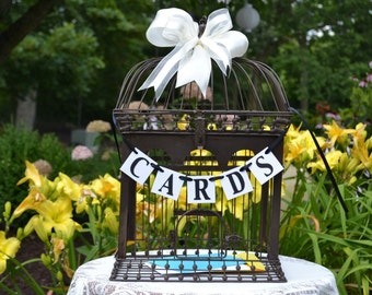 Cards Banner , Birdcage Decoration , Gift Cards Sign