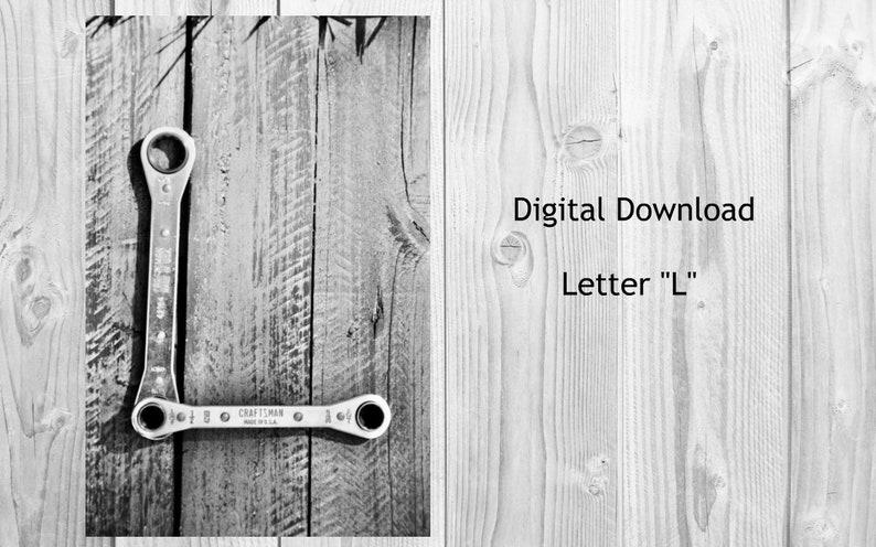 L Digital Download Alphabet Photography Letters Alphabet