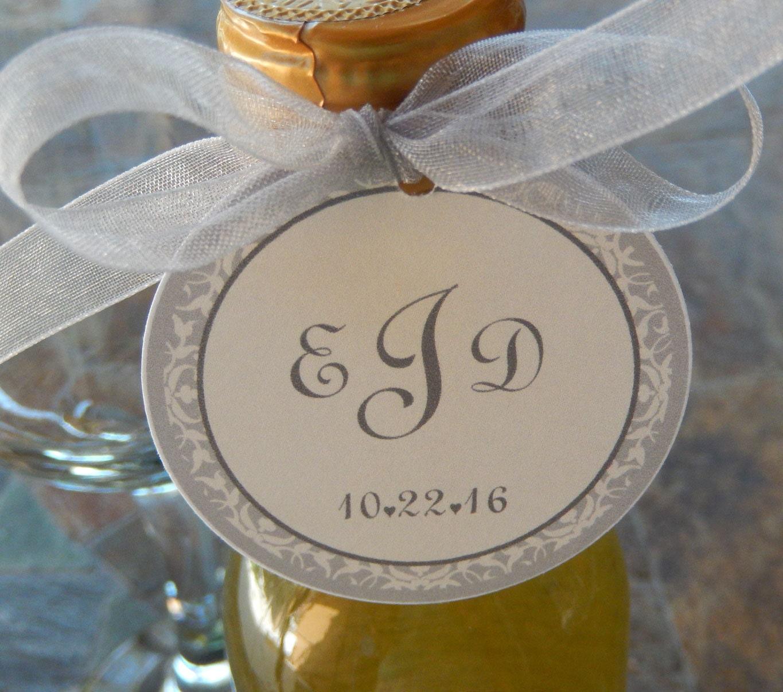 50 Mini Wine Or Champagne Bottle Custom 2 Favor Tags Etsy