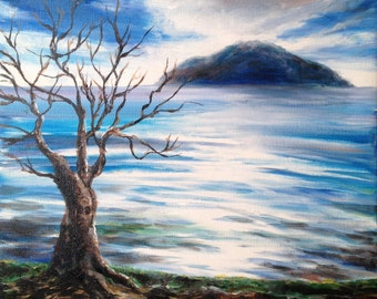 The Withering Fig Tree original painting on canvas