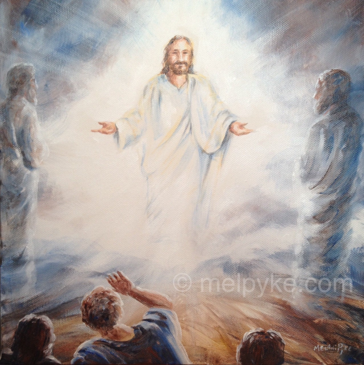 The Transfiguration of Jesus original painting on canvas ...