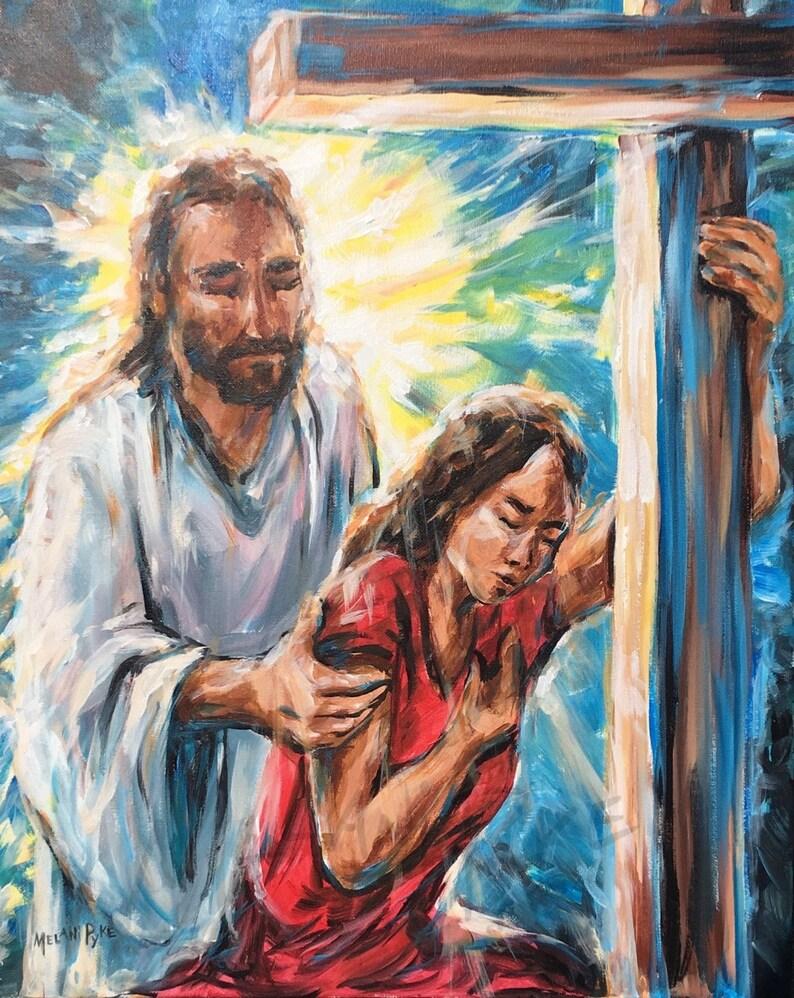 Jesus Am Kreuz Gemälde