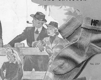 Women's Monogram Vintage Sock Pattern from Beehive Hand Knits, PDF Pattern