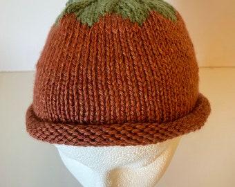 Baby Pumpkin Hat in Orange and Green