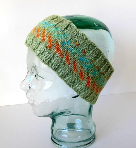 Winter Stirnband Ohrenwärmer in grün Chevron-Muster | Etsy