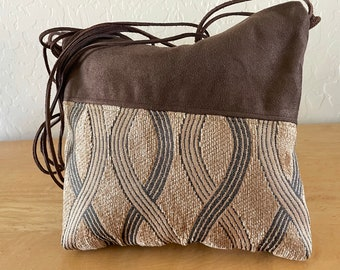 Autumn Messenger Bag in Brown and Gold